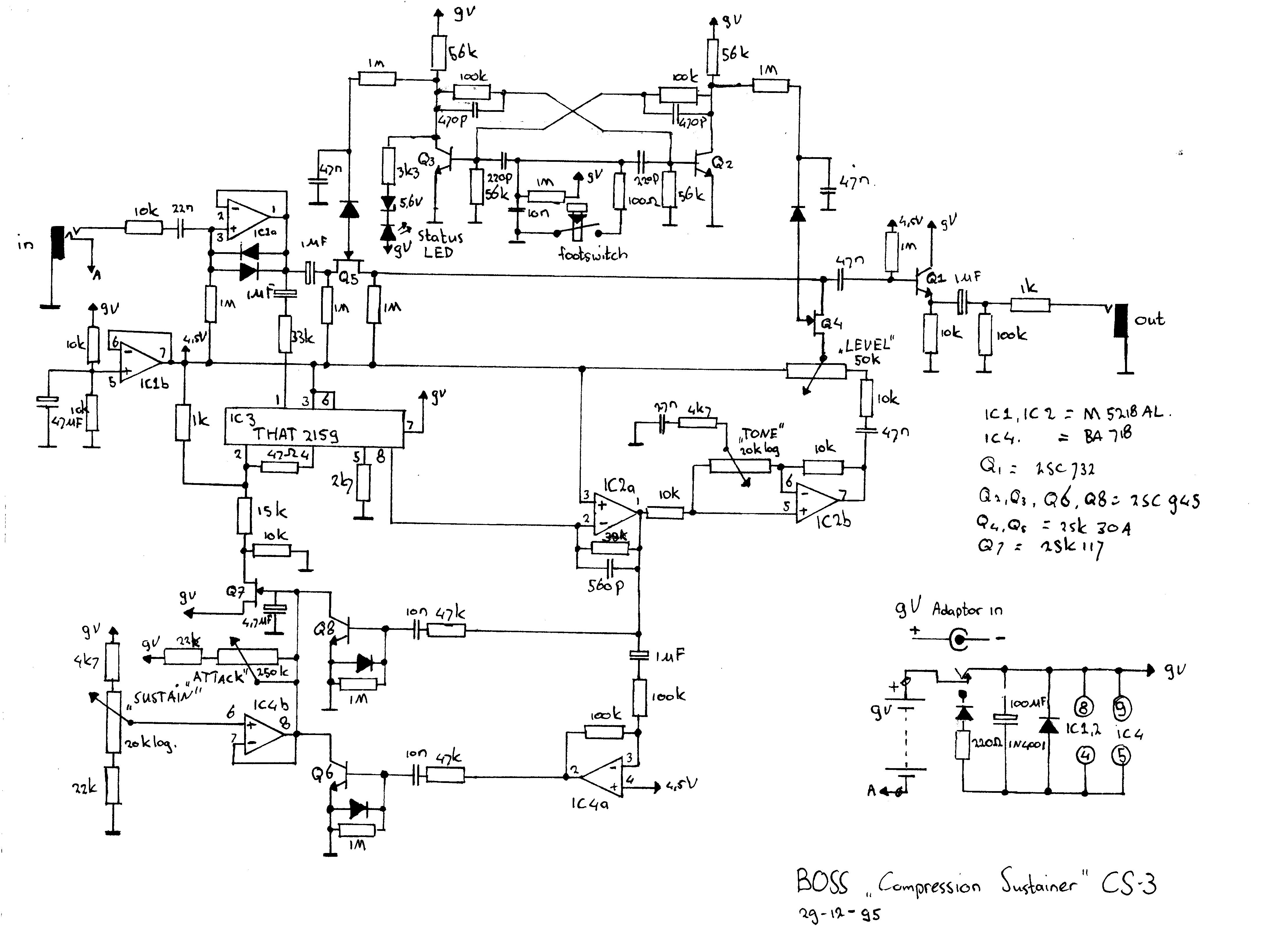 Boss Sd 1 Wiring Diagram